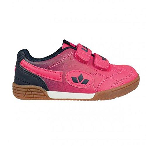 Lico Bernie V, Zapatillas de Balonmano para Niños, Amarillo Limón/Azul Pink/Marine