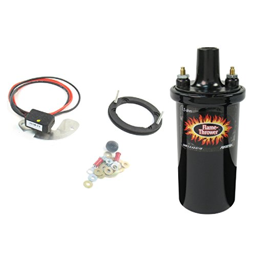 Pertronix 1181/40011 Ignitor & Flame-Thrower - 40,000 Volts 1.5 Ohm Coil Kit for Delco 8 ()