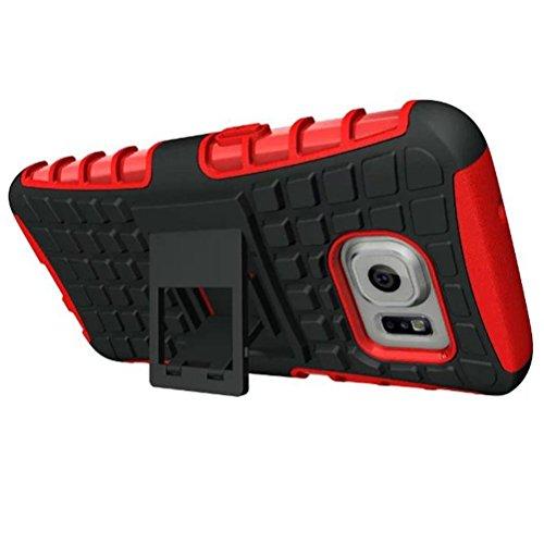 Funda Samsung Galaxy S7 ,Xinantime Caja del teléfono celular con soporte de pie (Verde) Rojo