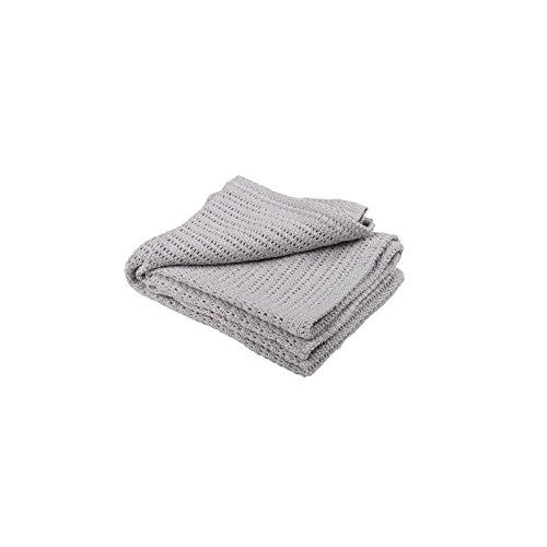 Abeille 100% Baumwolle Zell Decke, Grau - Packung mit 6