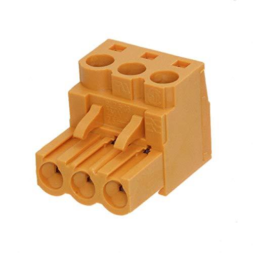 TERM BLOCK PLUG 3POS STR 5.08MM (Pack of 10)
