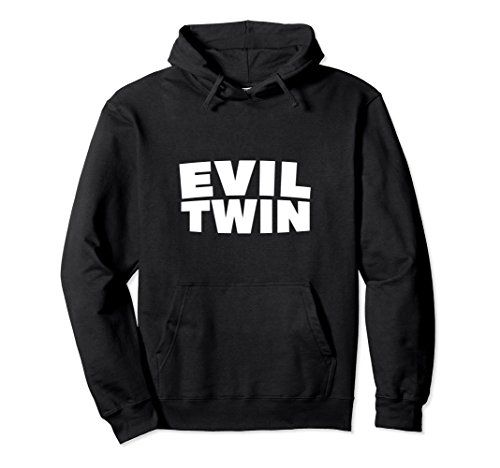 Unisex Evil Twins Funny Halloween Hoodie Best Friend Costume Small Black