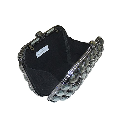 Anna Cecere italien conçu Gioello bijou embrayage sac sac de cocktail en soirée - noir