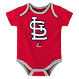 Majestic Athletic St. Louis Cardinals Infant Onesie Size 12 Months Bodysuit Creeper Red