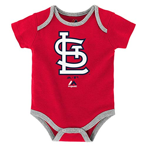 Majestic Athletic St. Louis Cardinals Infant Onesie Size 24 Months Bodysuit Creeper Red