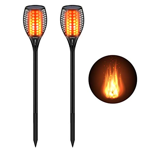 Cinoton Solar Light,Path Torches Dancing Flame Lighting 96 LED Dusk to Dawn Flickering Torches Outdoor Waterproof garden decorations (2)