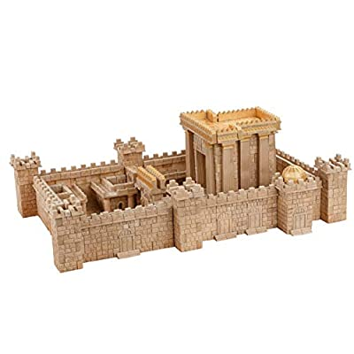 Wise Elk Temple in Jerusalem Ceramic Building Toy with 1350 pcs. & Educational STEM Toy for Kids from 5 Years, Great Gift for Boys, DIY Lovers, and Girls, Eco-Friendly Rebuildable Construction Toy.: Toys & Games