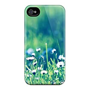 Ecu5553IRxw Tpu Case Skin Protector For Iphone 4/4s Daisies Field 2 With Nice Appearance