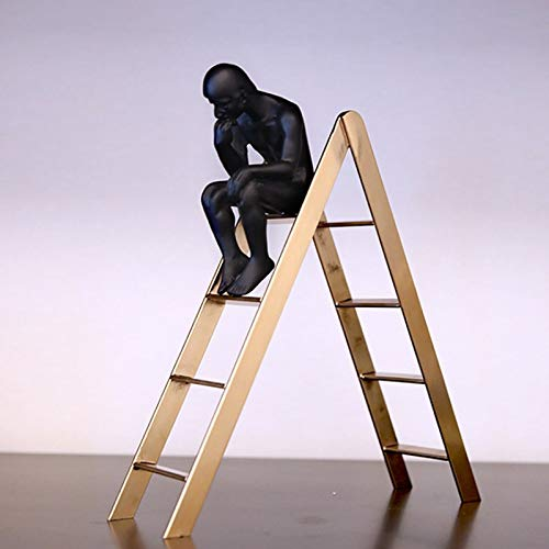 Buy Temerity Metal Auguste Rodin Thinker Sculpture On The Stairs Window Display Bookshelf Classical Home Decoration Black Man Online At Low Prices In India Amazon In