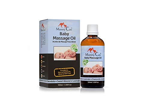 Baby Massage Oil - Mommy Care Natural Organic Massage Oil for Babies 3.38 fl.oz