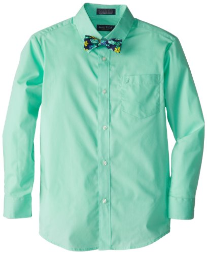 Nautica Dress Up Boys 8-20 Packaged Shirt Sets with Bow Tie, Sweet Mint, 12