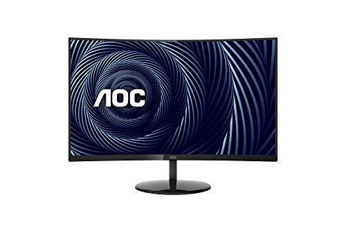 AOC CU32V3 Monitor 4K UHD súper curvo de 32 , VA curvo 1500R, 4 ms, 121% de cobertura sRGB / 90% DCI-P3, HDMI 2.0 / DisplayPort, VESA, negro