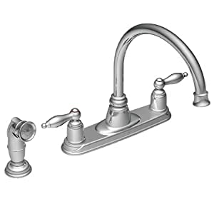 Moen CA67905 Castleby Chrome Two-Handle High Arc Kitchen Faucet