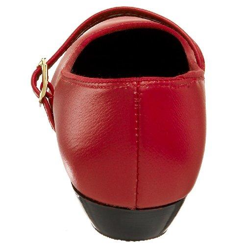 Scarpe Da Ballo Tic-tac-toes Donna Maryjane Rosso