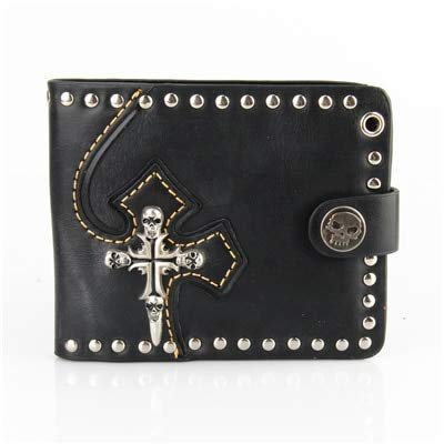Amazon.com: Cartera para hombre, estilo punk, monederos de ...