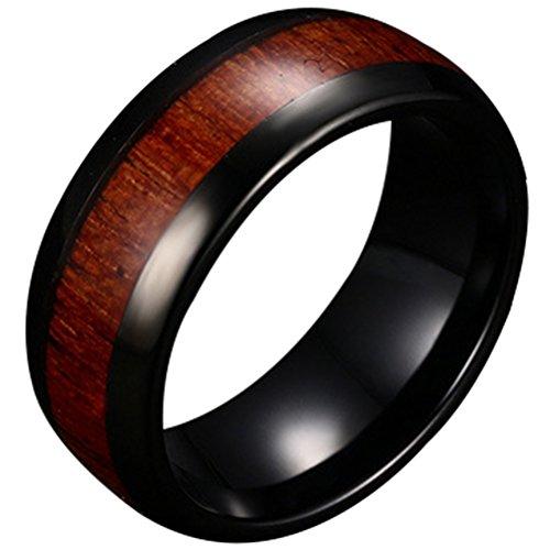 Mens 8mm Black Tungsten Carbid