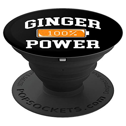 (Ginger Power Art | Funny Full Charge Battery Costume Tee - PopSockets Grip and Stand for Phones and)