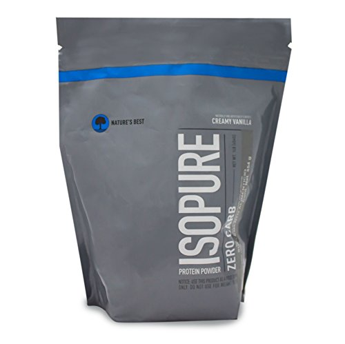 Isopure Zero Carb Protein Powder, 100% Whey Protein Isolate, Flavor: Creamy Vanilla, 1 Pound (Packaging May Vary)