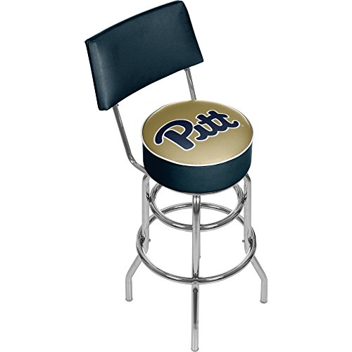 NCAA University of Pittsburgh Padded Bar Stool with Back by Trademark Gameroom