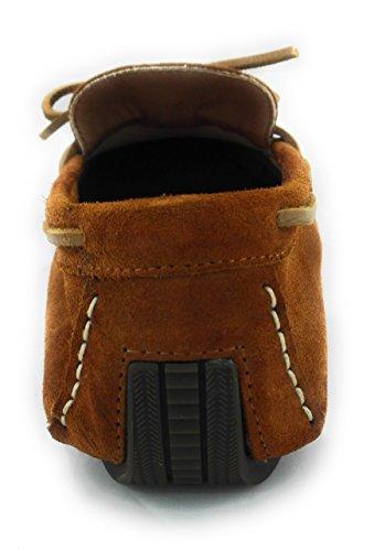 Zerimar Chaussures en Cuir Pour Homme Chaussure Homme Hiver Couleur Camel Taille 41