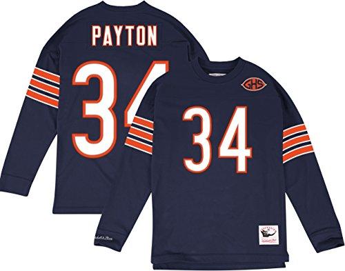 34 Walter Payton Jersey (Chicago Bears Walter Payton #34 Name & Number Longsleeve Tee, Medium)