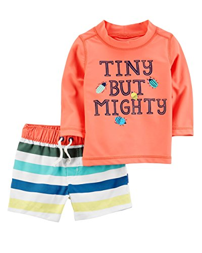 Carter's Baby Boys' 2 Piece Tiny But Mighty Rashguard Set 24 (Boys Carters 2 Piece)