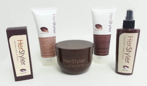 Herstyler 5pc Hair Care Treatment Set Shampoo Conditioner...