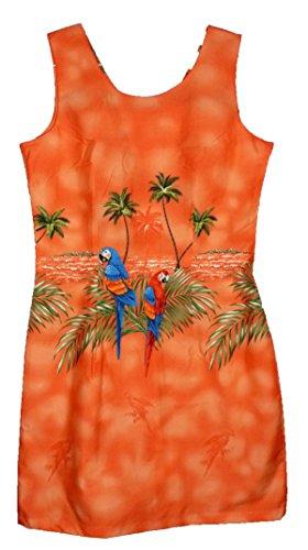 Kleid S 2XL Hawaii in Hawaiihemd made Orange original 6qdw6SP