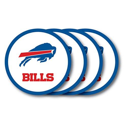 - NFL Buffalo Bills Vinyl Coaster Set (Pack of 4)