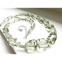 Big Prasiolite verde ametista naturale, con brillante verde pietra zodiacale giugno pietra preziosa raro verde ametista Gift Bride Jewelry Birthday 18mm a 12mm 41cm