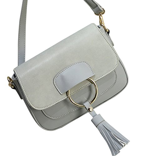 Bags Republe Female Design Pack Zippered Square Crossbody Round Light Buckle Bags Women Messenger Lightweight Gray Small wCqgPx4