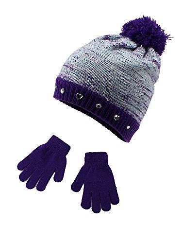 S.W.A.K Wear Girls Hat & Gloves Sets- Lavender