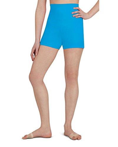 Capezio Women's Team Basic High Waisted Short, Turquoise, (Dance Jazz Costumes Turquoise)
