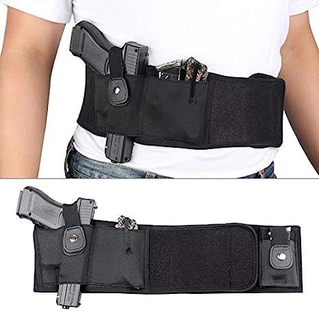 Gexgune Cazadora Banda del Vientre Funda de Neopreno Pistola Cintura Oculta Llevar Táctica para Glock 19 Pistola Beretta Revólver