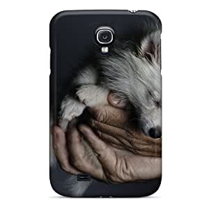 Tpu Case Cover Compatible For Galaxy S4/ Hot Case/ Hands Dogs Fox Puppies Sleepy Sleeping