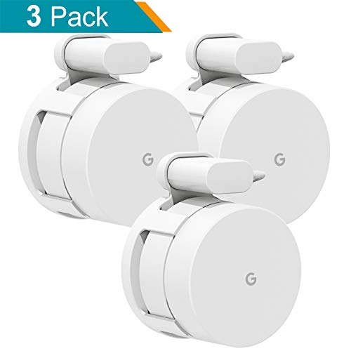 Wall Mount Bracket for Google Wifi,Fits Snugly to Google Wifi,Best Design for Winding Power Cord (New-3 Pack) ()