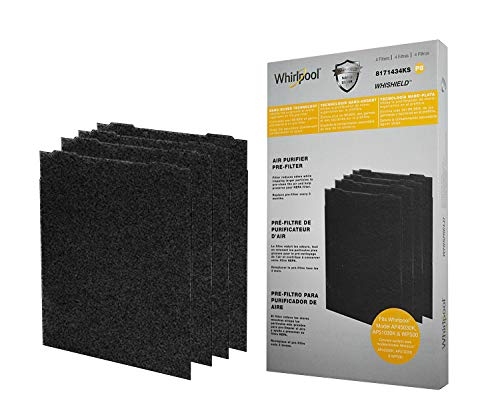 Whirlpool 8171434KS Genuine Charcoal Pre-Filter - Whishield Anti-Microbial Activated - Replacement Fit Air Purifier AP51030K, AP45030K, APR45130L WP500, Large - 4 - Purifier Air Whirlpool Whispure