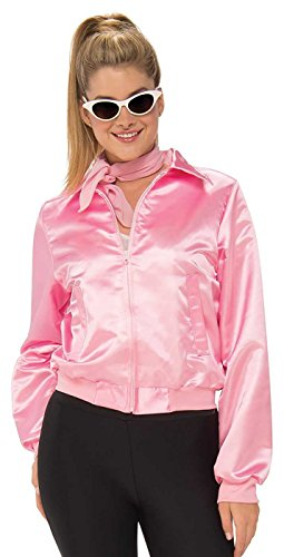 [Rubies Grease 50's Pink Ladies Plus Size Jacket Plus Size] (Sandy Grease Costume Shirt)