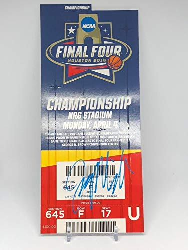 (Jay Wright Autographed Signed Memorabilia Final Four Championship Ticket - JSA Authentic)