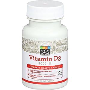 365 Everyday Value, Vitamin D3 2000 IU, 100 ct