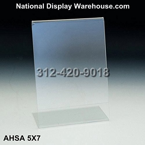 National Display Warehouse (10) 5x7 Acrylic Sign Holders/ Picture Frames,clear /Ad Frame , ASHA5X7