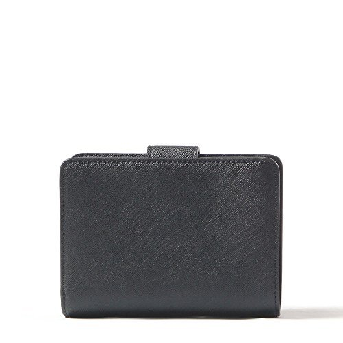 Tory Burch Robinson Saffiano Leather French Fold Wallet Style No. 33646 (Black)