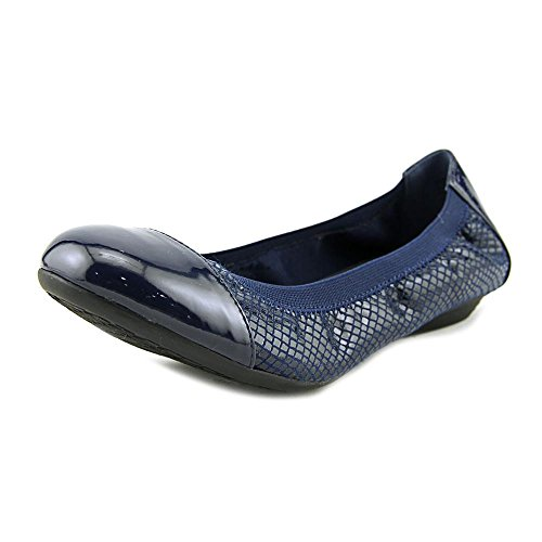 Slide Flats Scott Fabric Ronni Womens Karen Navy Cap Toe R0Yxq