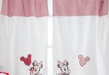Minnie Mouse Gardinen amazon com baby bedding design minnie mouse 2 curtains baby