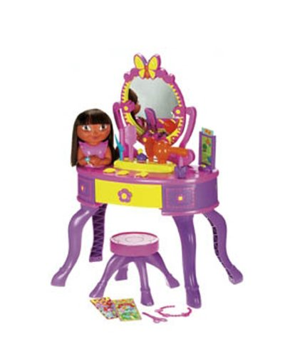 Fisher-Price Dora's Let's Get Ready Vanity (Fisher Price All In One Dress Up Vanity)