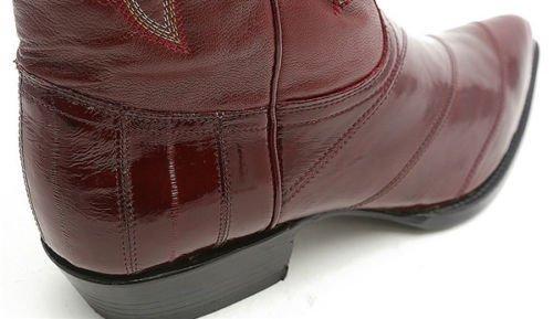 Menns Los Altos Ekte Ål Huden J Tå Håndlaget Trending Vestlig Urban Boot Burgunder