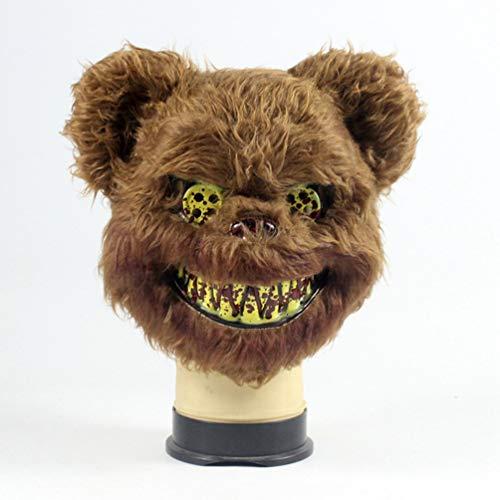 Killer Bear Animal Horror Plush Mask-Brown ()