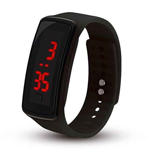 ZZH Relojes Digitales para niños, niñas, Hombres, Mujeres, LED Silicone Sport, Anillos Delgados, Relojes de Pulsera de...