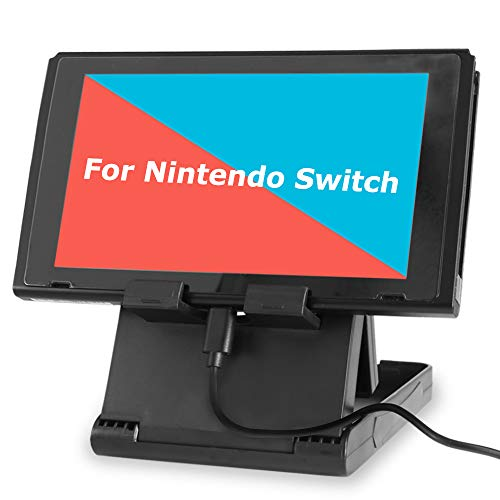 Stand for Nintendo Switch, TJS Nintendo Switch Stand Holder [Play While  Charging] [Multi-angle Adjustable] [Travel Friendly] Switch Stand Dock  Bracket