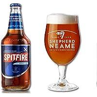 Cerveza Shepherd Neame Spitfire Amber. Caja de 12 botellas de 500ml. Estilo Kentish Ale, 4.5% ABV. Importada del Reino…